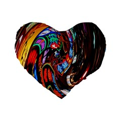 Abstract Chinese Inspired Background Standard 16  Premium Heart Shape Cushions by Simbadda