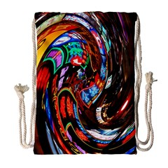 Abstract Chinese Inspired Background Drawstring Bag (large) by Simbadda