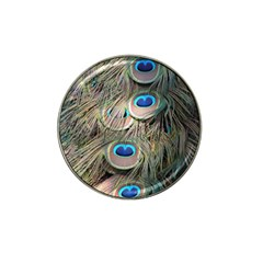 Colorful Peacock Feathers Background Hat Clip Ball Marker by Simbadda