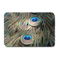 Colorful Peacock Feathers Background Plate Mats by Simbadda