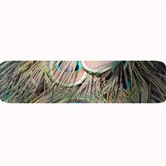 Colorful Peacock Feathers Background Large Bar Mats by Simbadda