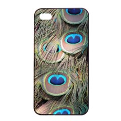 Colorful Peacock Feathers Background Apple Iphone 4/4s Seamless Case (black) by Simbadda