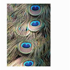 Colorful Peacock Feathers Background Small Garden Flag (two Sides) by Simbadda