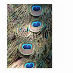 Colorful Peacock Feathers Background Large Garden Flag (two Sides) by Simbadda