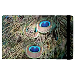 Colorful Peacock Feathers Background Apple iPad 3/4 Flip Case by Simbadda