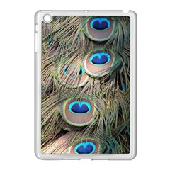 Colorful Peacock Feathers Background Apple Ipad Mini Case (white) by Simbadda
