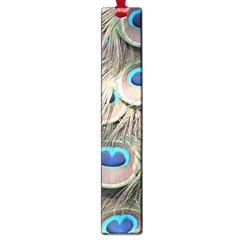 Colorful Peacock Feathers Background Large Book Marks by Simbadda