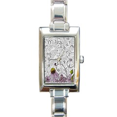 Abstract Pattern Rectangle Italian Charm Watch by Simbadda