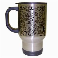 Abstract Pattern Travel Mug (silver Gray)