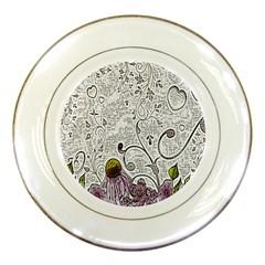 Abstract Pattern Porcelain Plates by Simbadda