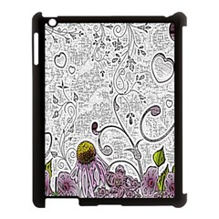 Abstract Pattern Apple Ipad 3/4 Case (black) by Simbadda