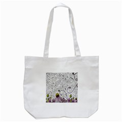 Abstract Pattern Tote Bag (white) by Simbadda