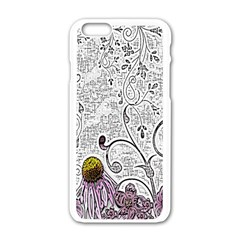 Abstract Pattern Apple Iphone 6/6s White Enamel Case by Simbadda