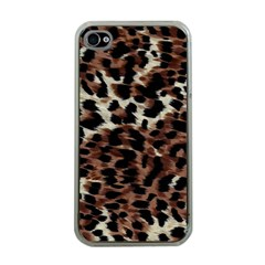 Background Fabric Animal Motifs Apple Iphone 4 Case (clear) by Simbadda