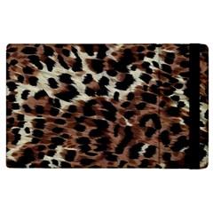 Background Fabric Animal Motifs Apple Ipad 3/4 Flip Case by Simbadda