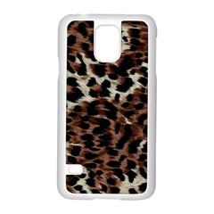 Background Fabric Animal Motifs Samsung Galaxy S5 Case (white) by Simbadda