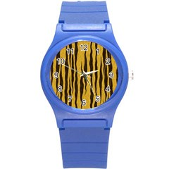Seamless Fur Pattern Round Plastic Sport Watch (s) by Simbadda