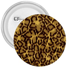 Seamless Animal Fur Pattern 3  Buttons
