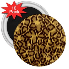 Seamless Animal Fur Pattern 3  Magnets (10 pack)