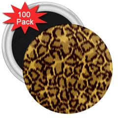 Seamless Animal Fur Pattern 3  Magnets (100 pack)
