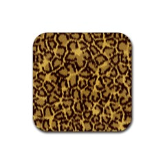 Seamless Animal Fur Pattern Rubber Square Coaster (4 pack)