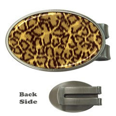 Seamless Animal Fur Pattern Money Clips (Oval)