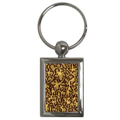 Seamless Animal Fur Pattern Key Chains (Rectangle)