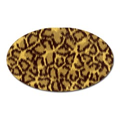 Seamless Animal Fur Pattern Oval Magnet by Simbadda