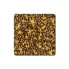 Seamless Animal Fur Pattern Square Magnet by Simbadda