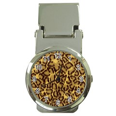 Seamless Animal Fur Pattern Money Clip Watches