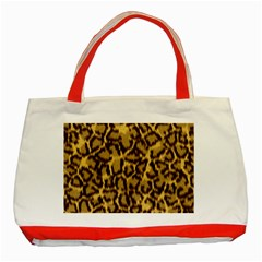 Seamless Animal Fur Pattern Classic Tote Bag (Red)