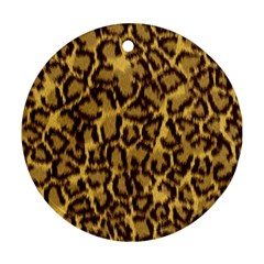Seamless Animal Fur Pattern Round Ornament (two Sides) by Simbadda