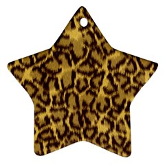Seamless Animal Fur Pattern Star Ornament (Two Sides)