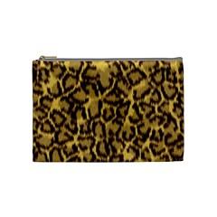 Seamless Animal Fur Pattern Cosmetic Bag (medium)  by Simbadda