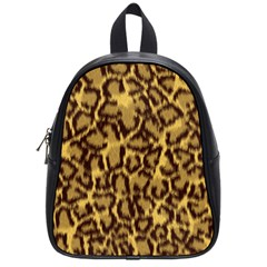Seamless Animal Fur Pattern School Bags (Small)