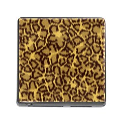 Seamless Animal Fur Pattern Memory Card Reader (square) by Simbadda