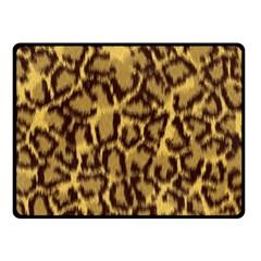 Seamless Animal Fur Pattern Fleece Blanket (small) by Simbadda
