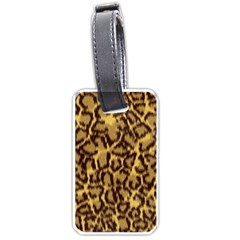 Seamless Animal Fur Pattern Luggage Tags (Two Sides)