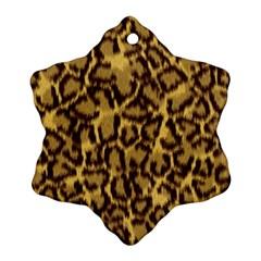 Seamless Animal Fur Pattern Ornament (snowflake) by Simbadda