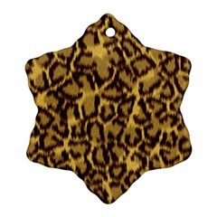 Seamless Animal Fur Pattern Snowflake Ornament (Two Sides)