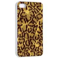 Seamless Animal Fur Pattern Apple Iphone 4/4s Seamless Case (white) by Simbadda