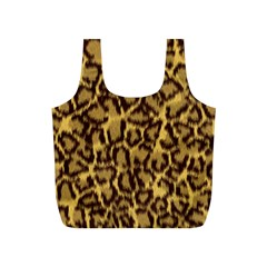 Seamless Animal Fur Pattern Full Print Recycle Bags (S)