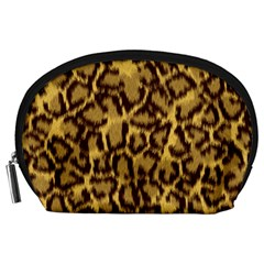 Seamless Animal Fur Pattern Accessory Pouches (Large)