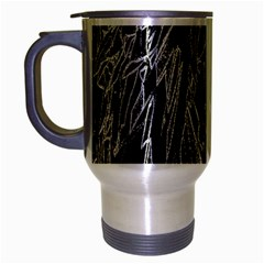 Gray Background Pattern Travel Mug (silver Gray) by Simbadda