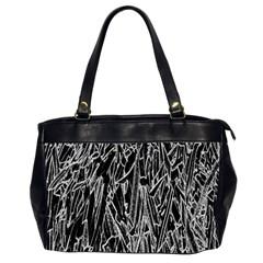 Gray Background Pattern Office Handbags (2 Sides)  by Simbadda