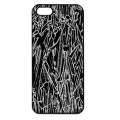 Gray Background Pattern Apple Iphone 5 Seamless Case (black) by Simbadda