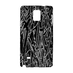 Gray Background Pattern Samsung Galaxy Note 4 Hardshell Case by Simbadda