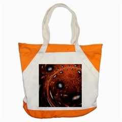 Fractal Peacock World Background Accent Tote Bag by Simbadda