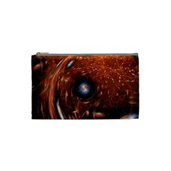 Fractal Peacock World Background Cosmetic Bag (small)  by Simbadda