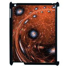 Fractal Peacock World Background Apple Ipad 2 Case (black) by Simbadda
